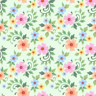 Бесшовный красочный цветочный узор