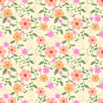 Seamless colorful flowers pattern
