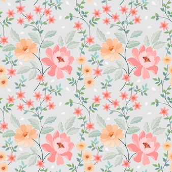 Seamless colorful flowers vector for fashion prints, wrapping, textile, paper, wallpaper.