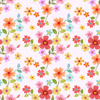 Seamless colorful flowers