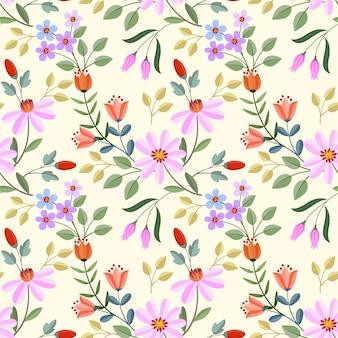 Бесшовные красочные цветы