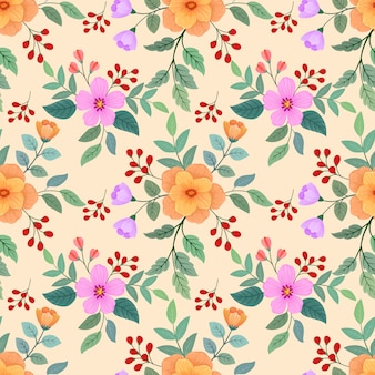 シームレスなカラフルな花