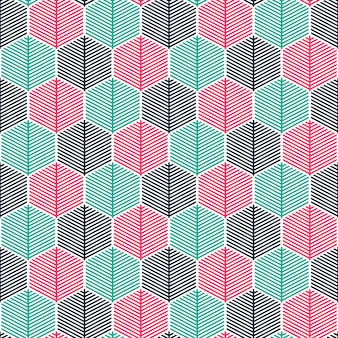 Seamless colorful geometric pattern background