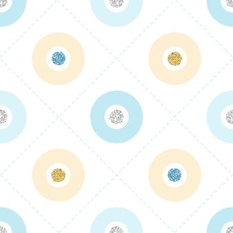 白い背景にシームレスなカラフルなキラキラドットパターン