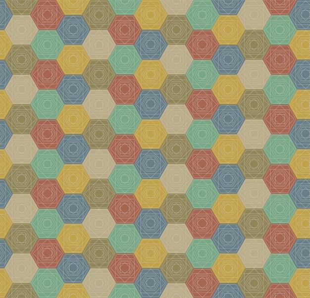 Бесшовные красочные шестиугольники