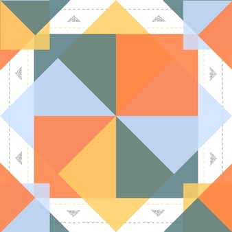 Seamless colorful native pattern with silver glitter on white background