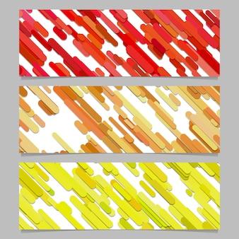 Seamless colorful random diagonal stripe pattern banner background design set