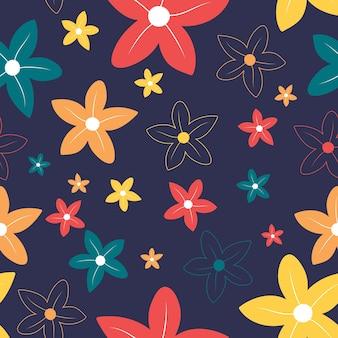 シームレスなカラフルな花柄