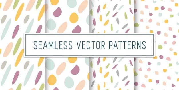 Seamless colourful pattern set