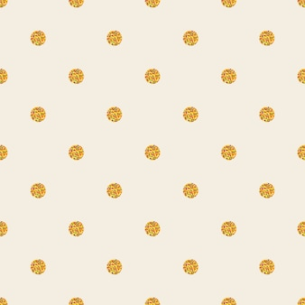 Seamless colourful pattern with sparkle polka dot Premium Vector