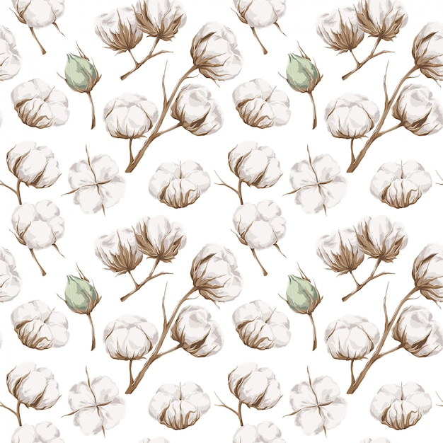 Seamless cotton pattern