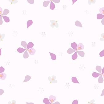 Бесшовные милые элегантные зимние цветы узор на розовом фоне