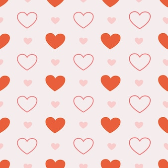The seamless of cute heart on pink