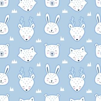 Seamless cute pattern in scandinavian style.