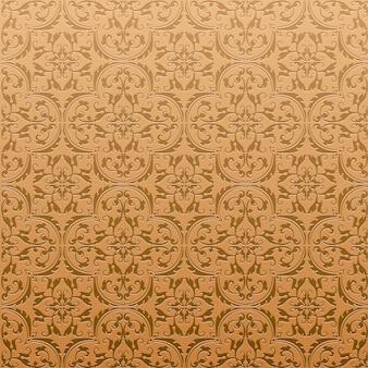Бесшовные дамасской фоновый узор и обои из турецкой текстуры керамической плитки в векторе