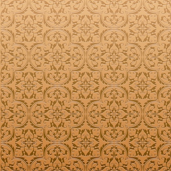 Seamless damask background pattern design and wallpaper made of turkish texture ceramic tiles in vector