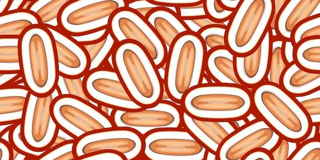 Бесшовные даты вектор шаблон. минималистичный пищевой фон. повторяемая текстура витаминов