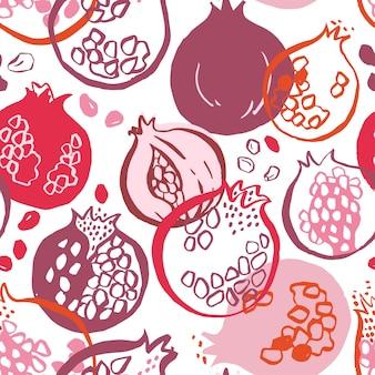 석류와 원활한 장식 패턴입니다.