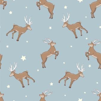 원활한 사슴 패턴