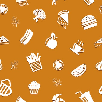 Seamless delicious food pattern