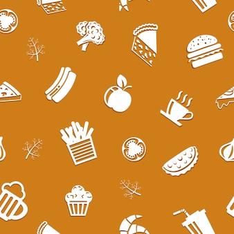 シームレスなおいしい食べ物のパターン