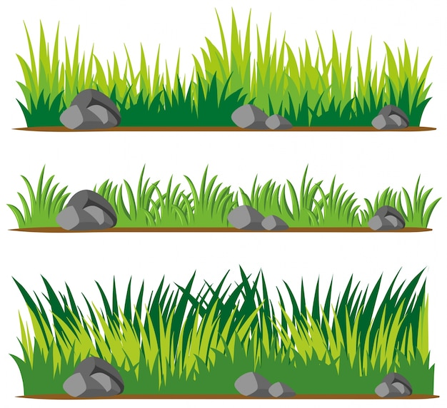 Seamless design for grass and rocks