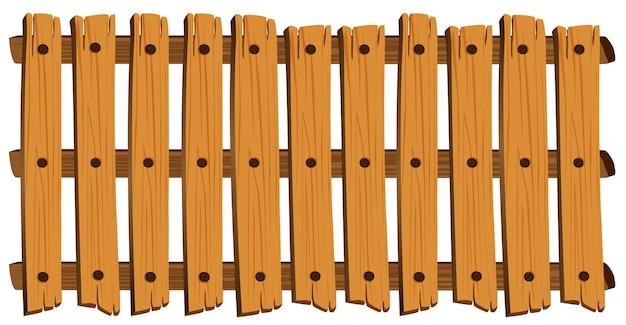 木製柵のシームレスなデザイン