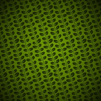 Seamless diagonal floral pattern on green background