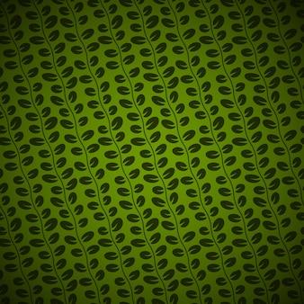 緑の背景にシームレスな斜めの花柄