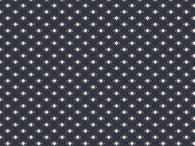 흑백 색상에서 원활한 다이아몬드 스퀘어 패턴 배경.