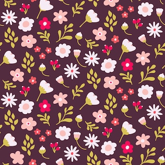 Seamless ditsy floral pattern design