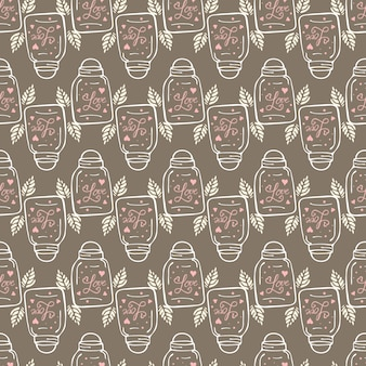 Seamless doodle pattern on valentine's day theme