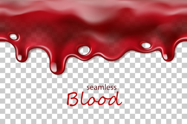 Seamless dripping blood repeatable