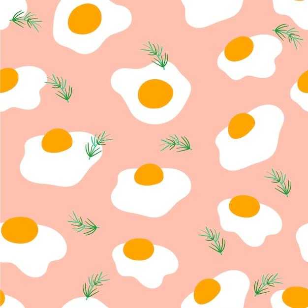 인쇄, 직물, 직물을 위한 매끄러운 달걀 패턴입니다. 계란 배경