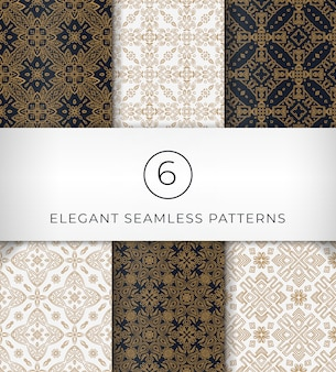 Seamless elegant patterns