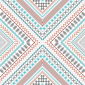 Seamless embroidery pattern with high detailed stitches