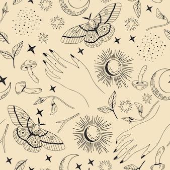Seamless esoteric pattern