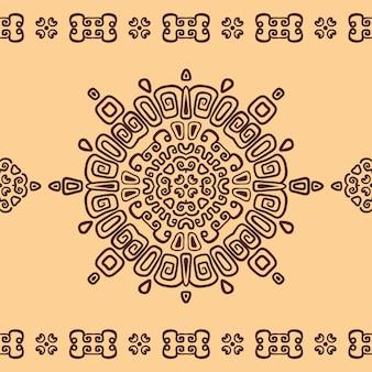 Seamless ethnic pattern of circular ornament