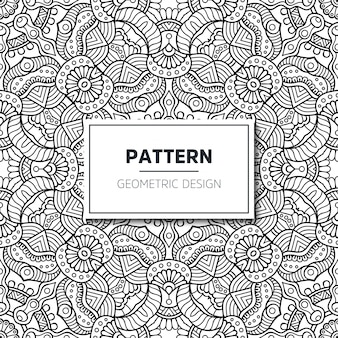 Seamless ethnic and tribal pattern