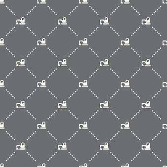 Seamless excavator pattern on a dark background. excavator icon creative design. can be used for wallpaper, web page background, textile, print ui/ux