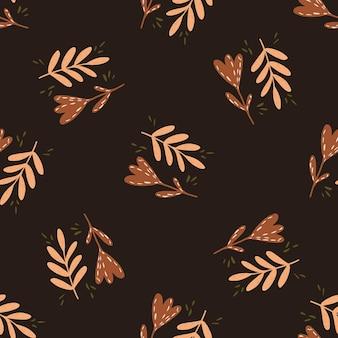 装飾的な枝や花とのシームレスな秋のパターン
