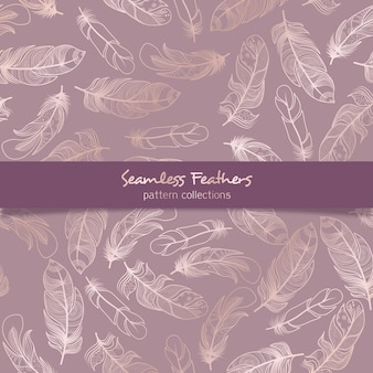 Seamless feathers pattern collections