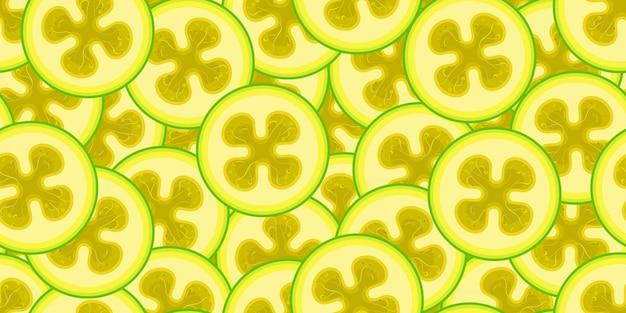 Бесшовный узор вектор фейхоа. минималистичный пищевой фон. повторяемая текстура витаминов