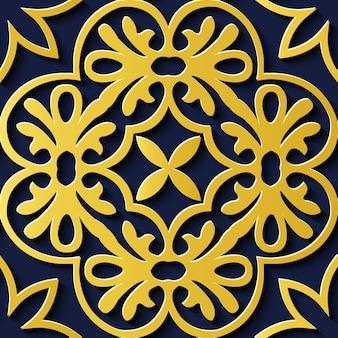 완벽 한 꽃 장식 복고풍 패턴