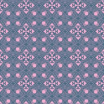 シームレスな花の幾何学模様のプリント。