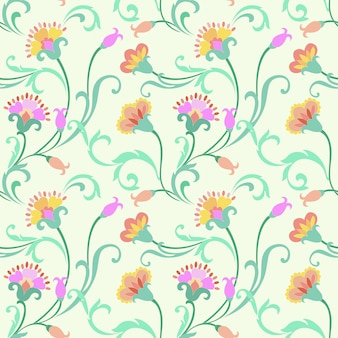 Seamless   floral pattern background. indian style