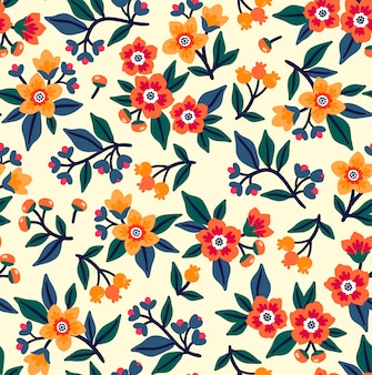 Seamless floral pattern for design. small multicolored flowers.