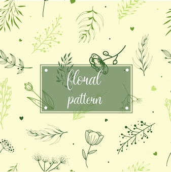 Seamless floral pattern design
