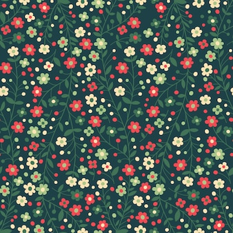 Seamless floral pattern. flowering branches