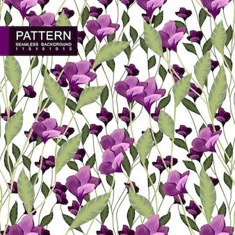 완벽 한 꽃 패턴 녹색과 분홍색